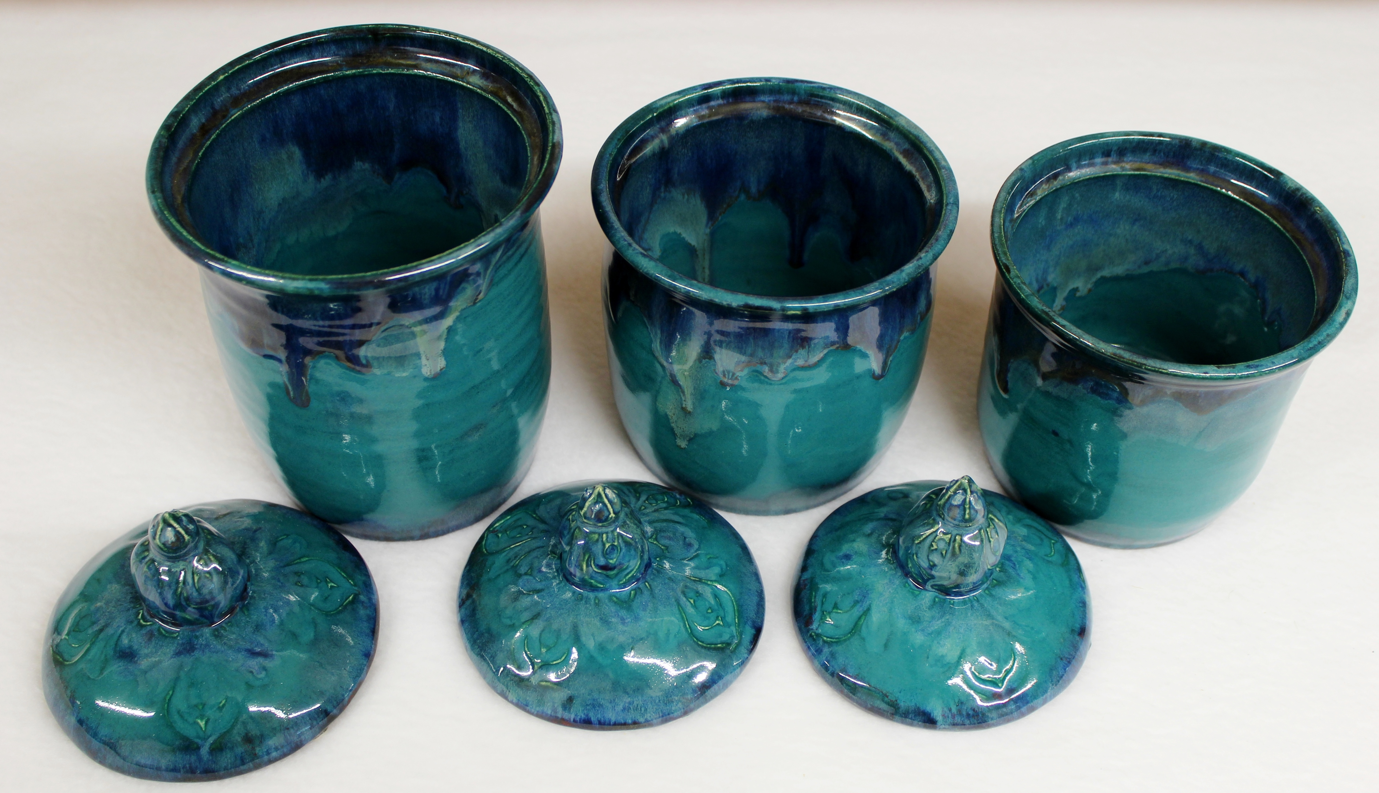 Wild Blue Fire Moroccan Kitchen Canister Set with Lake County ...